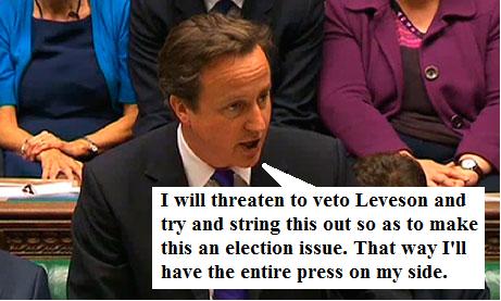 Cameron on Leveson