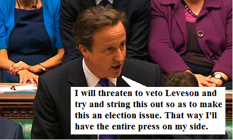 Cameron on Leveson