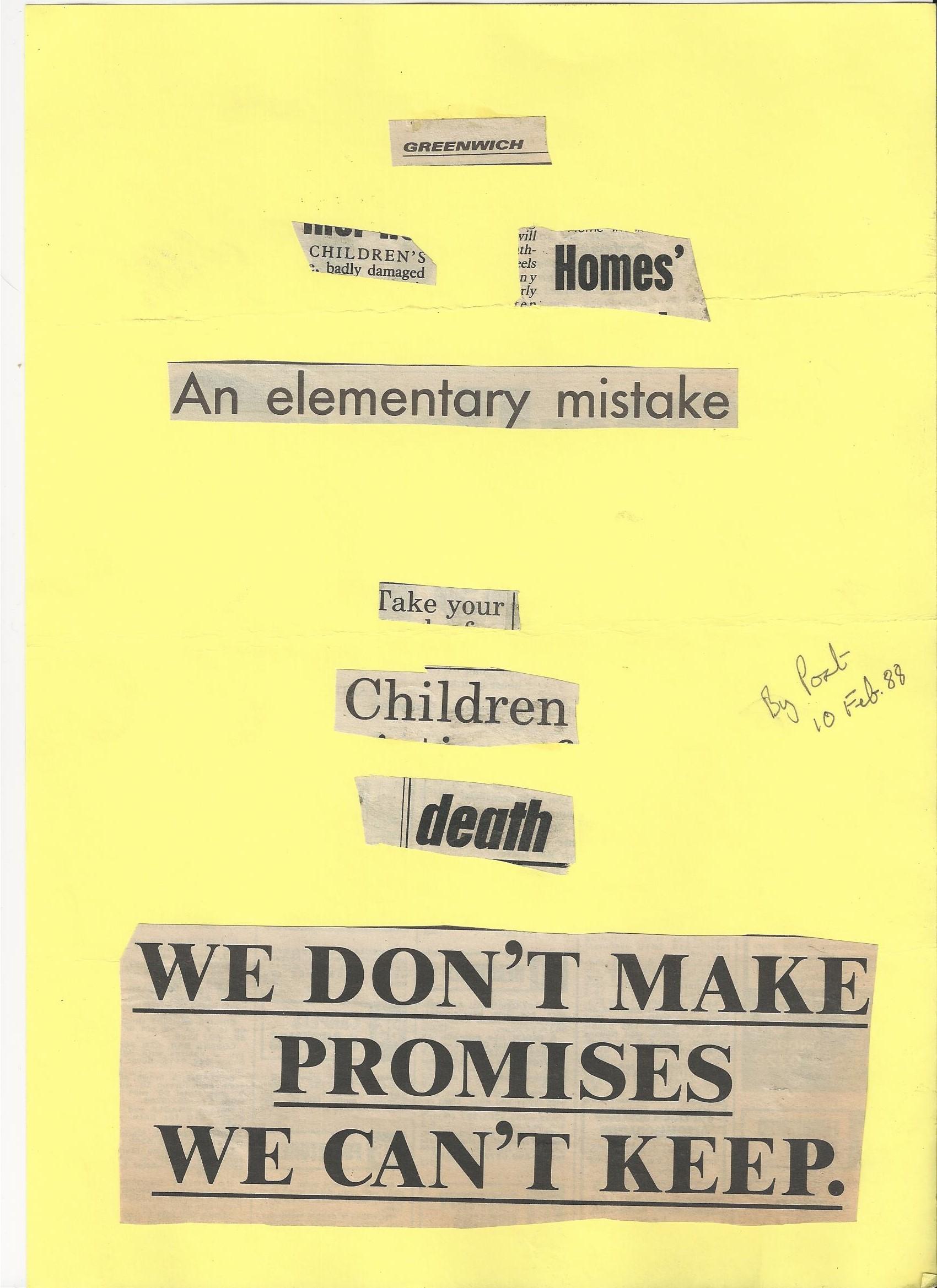 Poison Pen Letter Sent To Chris Fay Feb 1988 | theneedleblog