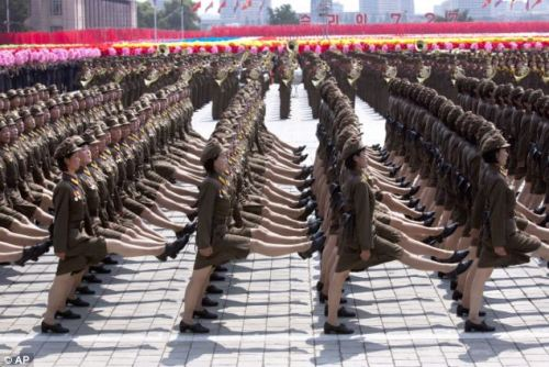 North Korean Women try out for Olympic hurdles team