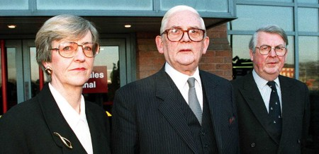 THE NORTH WALES CHILD ABUSE TRIBUNAL There were three members of the Tribunal — Margaret Clough, chairman Sir Ronald Waterhouse and Morris le Fleming. The evidence suggests they did not come to grips with the role of freemasonry in the North Wales Police.     Photo: PA