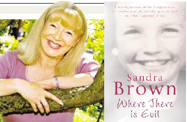 Sandra Brown with her book, soon to be a film.