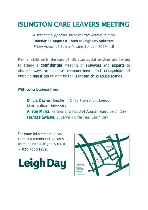 ISLINGTON CARE LEAVERS MEETING - FLYER_1