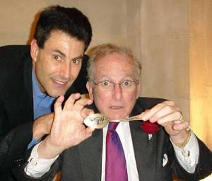 Bent or Magic ? Lord Janner with Uri Geller.