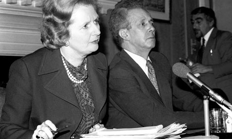 Keith Joseph pictured here with Margaret Thatcher.