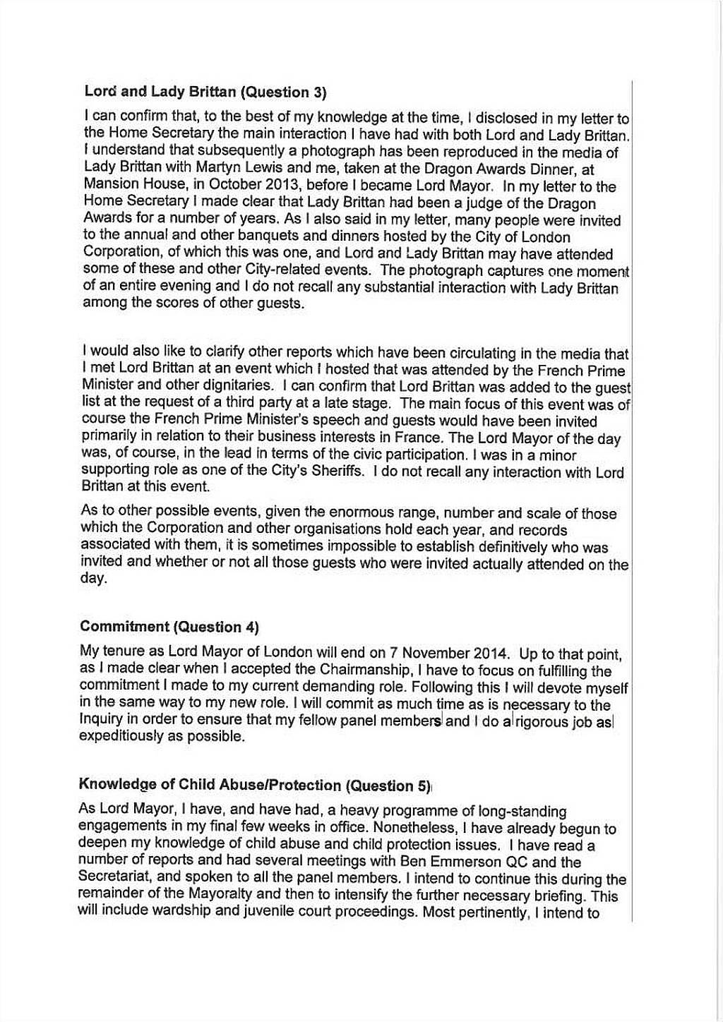 fiona woolf u2019s letter to hasc and drafts