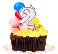 2nd-Birthday-Celebration-Cupcake