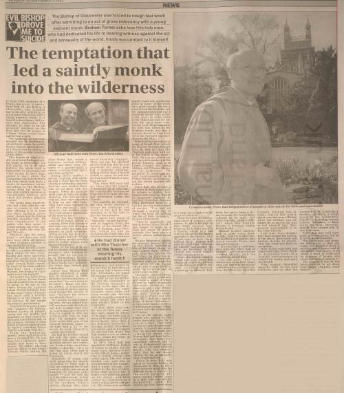 Sunday Telegraph P Ball 14.3.93